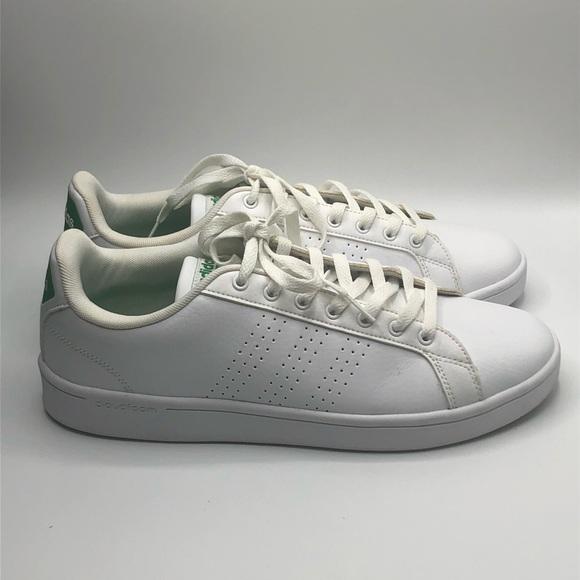 Adidas neo VS Advantage White Green Sz 10.5 Clean!